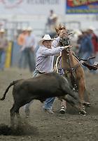 26 Aug 2010:  Matt Shiozawa scored a time of 10.3 in the slack Tie Down Roping competition at the Kitsap County Stampede Wrangle Million Dollar PRCA Silver Rodeo Tour Bremerton, Washington.