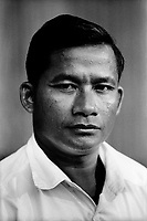 Nhem Ein, the former Khmer Rouge photographer at the S-21 detention centre at Tuol Sleng, where over 16,000 inmates were killed between 1975 and 1979. He joined the Khmer at the age of 10, and was tasked with photographing every prisoner before they were killed.