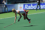 The Hague, Netherlands, June 12: Alex Danson #15 of England tries to score at shoot-out during the field hockey placement match (Women - Place 11/12) between Belgium and England on June 12, 2014 during the World Cup 2014 at Kyocera Stadium in The Hague, Netherlands. Final score after full time 1-1 (0-1). Score after shoot-out 1-2  (Photo by Dirk Markgraf / www.265-images.com) *** Local caption ***