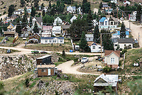 Low income housing in the mining town of Victor, Colorado, USA.