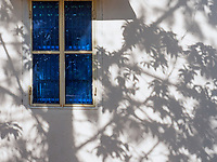 Blue window and shadows, Siem Reap, Cambodia