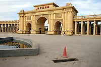 CHINA. Beijing. The main gate of the Sun City retirement complex for the elderly. 2010