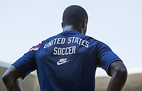 GUADALAJARA, MEXICO - MARCH 18: Benji Michel #14 of the United States warming up during a game between Costa Rica and USMNT U-23 at Estadio Jalisco on March 18, 2021 in Guadalajara, Mexico.