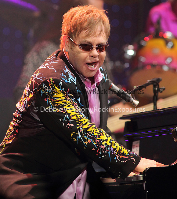 Sir Elton John performs at the 1st Mariner Arena in Baltimore, Md. March 26, 2011..Copyright EML/Rockinexposures.com.