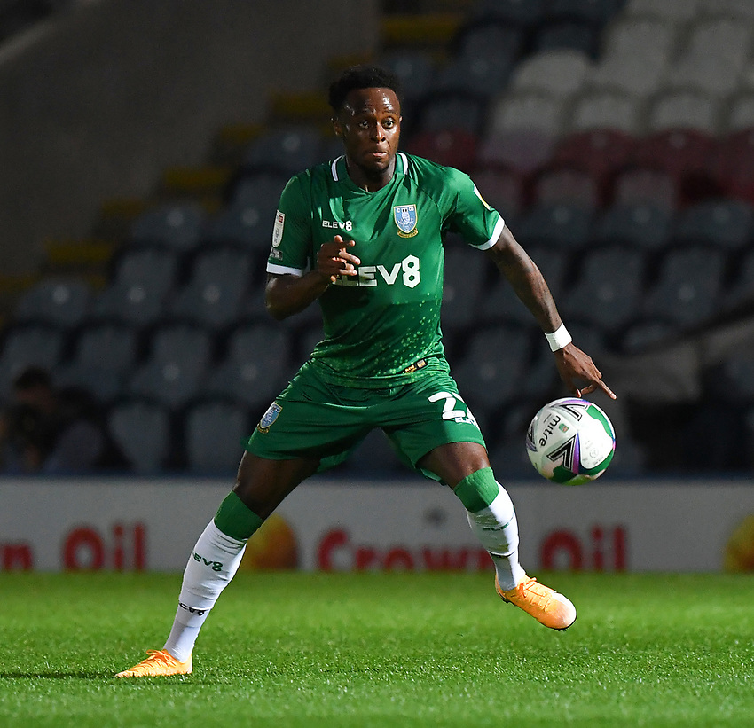 Sheffield Wednesday's Moses Odubajo<br /> <br /> Photographer Dave Howarth/CameraSport<br /> <br /> Carabao Cup Second Round Northern Section - Rochdale v Sheffield Wednesday - Tuesday 15th September 2020 - Spotland Stadium - Rochdale<br />  <br /> World Copyright © 2020 CameraSport. All rights reserved. 43 Linden Ave. Countesthorpe. Leicester. England. LE8 5PG - Tel: +44 (0) 116 277 4147 - admin@camerasport.com - www.camerasport.com