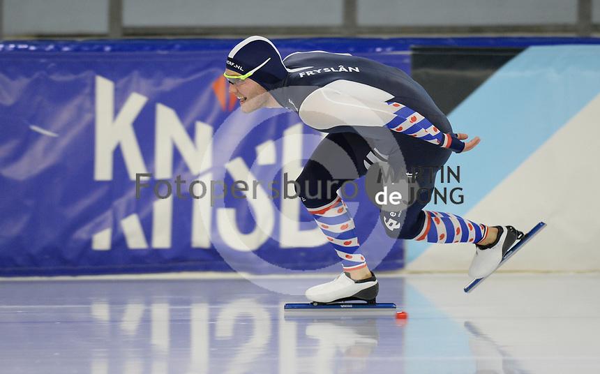 SCHAATSEN: HEERENVEEN: 10-10-2020, KNSB Trainingswedstrijd, Tom Kant, ©foto Martin de Jong
