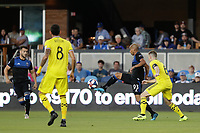 SAN JOSE, CA - AUGUST 03: Judson  during a Major League Soccer (MLS) match between the San Jose Earthquakes and the Columbus Crew on August 03, 2019 at Avaya Stadium in San Jose, California.