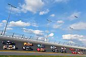 #18: Jeffrey Earnhardt, Joe Gibbs Racing, Toyota Supra iK9 and #23: John Hunter Nemechek, GMS Racing, Chevrolet Camaro Fire Alarm Services, INC