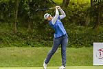 Supakchaya Pattaranakrueang of Thailand tees off during the first round of the EFG Hong Kong Ladies Open at the Hong Kong Golf Club Old Course on May 11, 2018 in Hong Kong. Photo by Marcio Rodrigo Machado / Power Sport Images