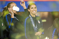 Orlando, FL - Wednesday March 07, 2018: Alex Morgan celebrating the victory during the She Believes Final Cup Match featuring USA Women's National Team vs. Englands Women's National Team