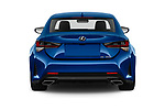 Straight rear view of a 2019 Lexus RC 350 2 Door Coupe stock images