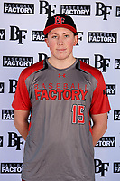 Ben Koomey (15) of Yorktown High School in Arlington, Virginia during the Baseball Factory All-America Pre-Season Tournament, powered by Under Armour, on January 12, 2018 at Sloan Park Complex in Mesa, Arizona.  (Mike Janes/Four Seam Images)