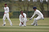 Frustration for the visitors during Rainham CC (batting) vs South Woodford CC, Hamro Foundation Essex League Cricket at Spring Farm Park on 1st May 2021