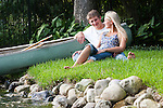 John Shackelford and Steph Wells during their engagement session Tuesday, August 17, 2010, at Steph's home in Winter Park, Florida. John took Steph out for a canoe ride a little over a week before and proposed to her when they got on dry land. (Chad Pilster, PilsterPhotography.net)
