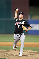 Trystan Magnuson #44 of the Sacramento RiverCats pitches in a Pacific Coast League game against the Tucson Padres at Kino Stadium on June 24, 2011  in Tucson, Arizona. Bill Mitchell/Four Seam Images.