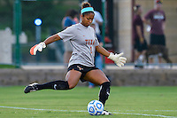 Texas goalkeeper Abby Smith (1) during first half of NCAA soccer game, Sunday, September 21, 2014 in San Marcos, Tex. Texas defeated Texas State 2-0. (Mo Khursheed/TFV Media via AP Images)
