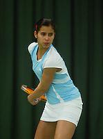 10-3-06, Netherlands, tennis, Rotterdam, National indoor junior tennis championchips, Joany Pontjodikromo
