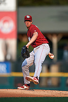 Lehigh Valley IronPigs pitcher Aaron Nola (10) delivers a pitch during a game against the Rochester Red Wings on July 4, 2015 at Frontier Field in Rochester, New York.  Lehigh Valley defeated Rochester 4-3.  (Mike Janes/Four Seam Images)