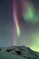 Aurora borealis and the Brooks Range.