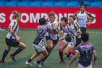 Kazahstan plays Singapore during the ARFU Asian Rugby 7s Round 1 on August 23, 2014 at the Hong Kong Football Club in Hong Kong, China. Photo by Xaume Olleros / Power Sport Images