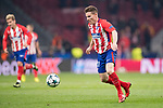 Kevin Gameiro of Atletico de Madrid runs with the ball during the UEFA Champions League 2017-18 match between Atletico de Madrid and AS Roma at Wanda Metropolitano on 22 November 2017 in Madrid, Spain. Photo by Diego Gonzalez / Power Sport Images