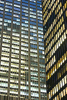 THIS IMAGE IS AVAILABLE EXCLUSIVELY FROM CORBIS.....PLEASE SEARCH FOR IMAGE # 42-20075512 ON WWW.CORBIS.COM.....Office Building Windows Illuminated at Night, Park Avenue, Midtown Manhattan, New York City, New York State, USA
