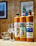 Deutschland, Bayern, Niederbayern, Deggendorf: Produkte der Baerwurz-Brennerei Zum Baeren | Germany, Lower Bavaria, Deggendorf: products of Baerwurz (strong spiwwit) distillery 'Zum Baeren'