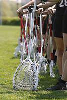 20 June 2006: Sticks during Stanford's 17-9 loss to Northwestern in the first round of the 2006 NCAA Lacrosse Championships in Evanston, IL. Stanford made it to the NCAA's for the first time in school history.