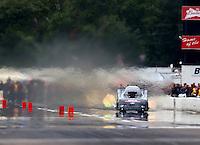 Aug 20, 2016; Brainerd, MN, USA; NHRA funny car driver Brian Stewart during qualifying for the Lucas Oil Nationals at Brainerd International Raceway. Mandatory Credit: Mark J. Rebilas-USA TODAY Sports
