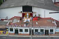 MEDELLIN - COLOMBIA, 10-04-2020: Celebración del Viacrucis en la localidad de Envigado durante el día 18 de la cuarentena total en el territorio colombiano causada por la pandemia  del Coronavirus, COVID-19. / Way of the Cross celebration in the town of Envigado during day 18 of total quarantine in Colombian territory caused by the Coronavirus pandemic, COVID-19. Photo: VizzorImage / Leon Monsalve / Cont