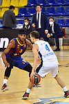 EUROLEAGUE 2020-2021. Playoffs.Game 2.<br /> FC Barcelona vs Zenit St. Petersburg: 81-78.<br /> Brandon Davies vs Kevin Pangos.