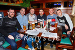 Anthony McDonnell, Danny O'Shea, Sean O'Riley, David Ross, Aidan O'Connell and Pat Hogan enjoying the evening in the Mall Tavern on Friday.