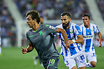 Leganes' Dimitrios Siovas and Real Sociedad's Mikel Oyarzabal during La Liga match. August 24, 2018. (ALTERPHOTOS/A. Perez Meca)