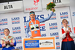 Sindre Skjostad Lunke Team Fortuneo-Samsic wins the Salmon Jersey and 500kg of salmon at the end of Stage 4 of the 2018 Artic Race of Norway, running 145.5km from Kvalsund to Alta, Norway. 18th August 2018. <br /> <br /> Picture: ASO/Gautier Demouveaux | Cyclefile<br /> All photos usage must carry mandatory copyright credit (© Cyclefile | ASO/Gautier Demouveaux)