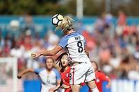 Cary, NC - Sunday October 22, 2017: Julie Ertz during an International friendly match between the Women's National teams of the United States (USA) and South Korea (KOR) at Sahlen's Stadium at WakeMed Soccer Park.