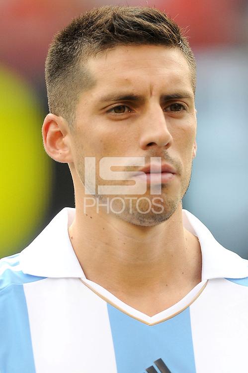 Argentina midfielder Jose Sosa (8) The Argentina National Team defeated Brazil 4-3 at MetLife Stadium, Saturday July 9 , 2012.