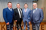 Cormac O'Connor, Tommy Diggin, Tadgh Flynn and Sonny Foran attending the Causeway Community Action Group  Oskars fundraiser  in the Ballyroe Heights Hotel on Friday.