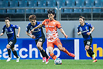 Jeju United Defender Chung Woon (R) fights for the ball with Gamba Osaka Midfielder Doan Ritsu (L) during the AFC Champions League 2017 Group H match Between Jeju United FC (KOR) vs Gamba Osaka (JPN) at the Jeju World Cup Stadium on 09 May 2017 in Jeju, South Korea. Photo by Marcio Rodrigo Machado / Power Sport Images
