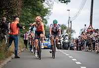 Dylan Van Baarle (NED/Ineos Grenadiers) catching a bidon<br /> <br /> Elite Men World Championships - Road Race<br /> from Antwerp to Leuven (268.3km)<br /> <br /> UCI Road World Championships - Flanders Belgium 2021<br /> <br /> ©kramon