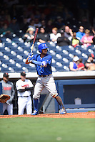 ***Temporary Unedited Reference File***Iowa Cubs shortstop Kristopher Negron (19) during a game against the Nashville Sounds on May 4, 2016 at First Tennessee Park in Nashville, Tennessee.  Iowa defeated Nashville 8-4.  (Mike Janes/Four Seam Images)