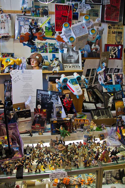 Star Wars memorabilia, Sucher and Sons Star Wars Shop, Aberdeen, downtown, Washington State, Grays Harbor County, small towns, Kurt Cobain memorabilia,