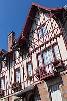 France, Aquitaine, Pyrénées-Atlantiques, Pays Basque, Biarritz:  Villa  Basque au 43 del 'Avenue Reine Victoria//  France, Pyrenees Atlantiques, Basque Country, Biarritz: Basque villa, Reine Victoria avenue