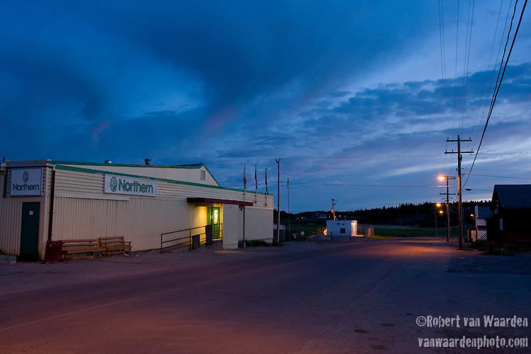 The Northern store in Fort Chipewyan. Where locals go to purchase their groceries and water, at steep prices.