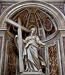 a sculpture of St. Helena in St. Peter's Basilica, Rome, Italy