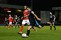 Filipe Morais of Stevenage shoots wide<br />  - Crewe Alexandra v Stevenage - Sky Bet League One - Alexandra Stadium, Gresty Road, Crewe - 22nd October 2013. <br /> © Kevin Coleman 2013