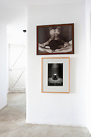 artworks in the hallway