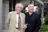 22/6/10 Michael Gambon and Harry Crosbie at the British Amabassador's residence at Glencairn House in Sandyford, Dublin. Arthur Carron/Collins