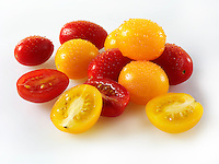 Mixed fresh yellow & red Pomodorino Tomatoes