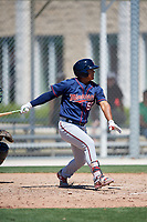 Minnesota Twins Lean Marrero (50) during a Minor League Spring Training game against the Tampa Bay Rays on March 17, 2018 at CenturyLink Sports Complex in Fort Myers, Florida.  (Mike Janes/Four Seam Images)