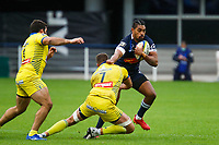 Sam VAKA of Agen and Alexandre LAPANDRY of Clermont during the Top 14 match between Clermont and Agen on October 3, 2020 in Clermont-Ferrand, France. (Photo by Romain Biard/Icon Sport) - Stade Marcel Michelin - Clermont Ferrand (France)